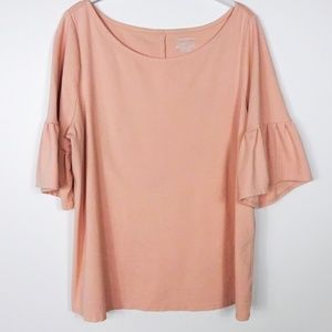 Lane Bryant Blouse Bell Sleeves